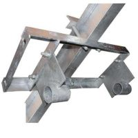 boat lift parts - Galvanized Flat Plate Hoist Mount For Steel Kit 6""
