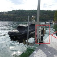 Boat Lift Piling Mount Bracket