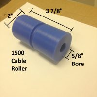 boat lift parts - 1500 LB CABLE ROLLER W/ CABLE GROOVE and hardware