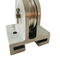 aluminum sheave housing with sheave pulley