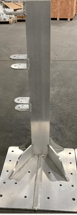 Seawall bracket for Swinger PWC lift