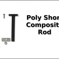 boat lift parts - Poly Connector Rod Short 5-7/8'' 316 Composite w/Hardware (each)