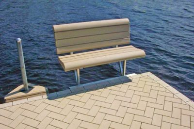 dock accessories - QC Off-Deck Lake View Bench Tan