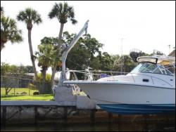 boat lifts - Davit Master 8000 lbs electric direct drive seawall mounted davit