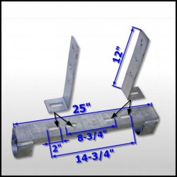 boat lift parts - Boathouse Dual Pipe Support