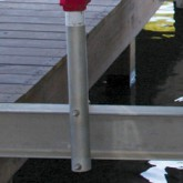 "boat lift parts - Galvanized Guide Post Stanchion (no PVC) will fit 4"" OR 5"" BEAM 1 Stanchion only"