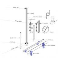 boat lift parts - Tide Tamer Bunk Bracket (1 complete bracket w/ hardware) fits a 6 or 8 inch I-Beam. | TT241