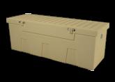 dock accessories - TitanSTOR Medium Tan Dock Box w/ Lock Set & Mounting Kit |