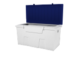 dock accessories - TitanSTOR(tm) Small Bllue/White Dock Box w/ Lock Set & Mounting Kit
