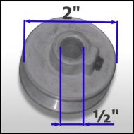 "boat lift parts - 2"" Aluminum Pulley for 1/2"" shaft (48 Frame motor)"