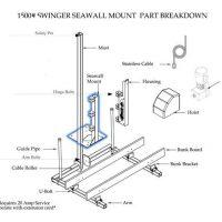 boat lift parts - Tide Tamer 1500 Piling Mount Bracket | TT210