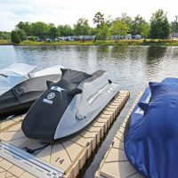 jet ski lift accessories - ShorePorts (DUAL) connected to Floating Dock