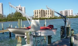 1400 lbs Davit Pair Seawall Electric Direct Drive | DMA94