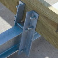 boat lift parts - bunk bracket with hardware