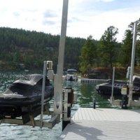 PWC on Tide Tamer Swinger Lift