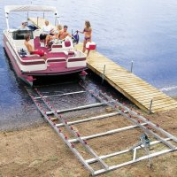 Roll-n-Go on shore Pontoon Ramp