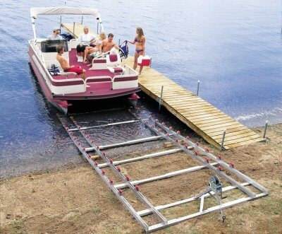 Roll-n-Go on shore Pontoon Ramp