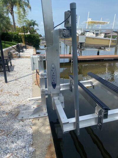 Swinger PWC Lift Seawall Mount