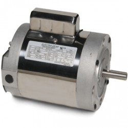 boat lift motors - Tide Tamer Stainless 1HP C-Face Motor wired with 10' Harness and Momentary Switch | 1313W