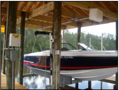 Boathouse Boatlift Kit for Side Mount to wood