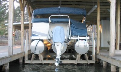 boathouse lift - Pontoon Cradle Center Kit (For Wood Mounting)