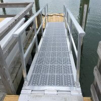 Aluminum Gangway with removable handrails