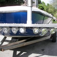 boat lift accessories - 80 watt LED flounder gig light system - 9000 Total Lumens (12 volt only)