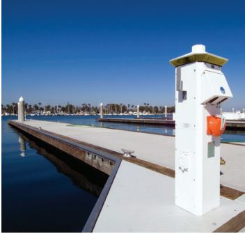 dock accessories - eaton stainless steel lighthouse