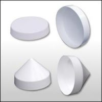 dock accessories - White flat Pile Caps