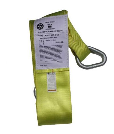 boat lift parts - 6 inch wide Weighted Slings