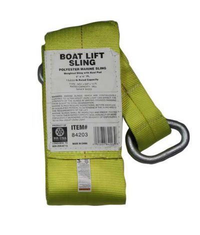 boat lift parts - 8 inch weighted boat lift sling