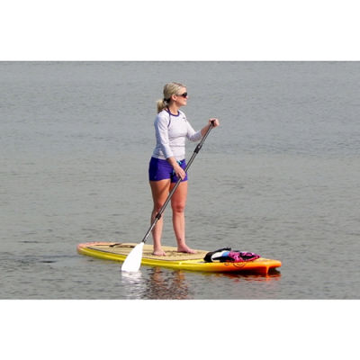 lady on paddle board Core Crossfit SUP for Yoga & X-Training