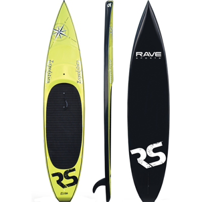 paddle board - Expedition 12′ 6″ Stand Up Paddle Board yellow