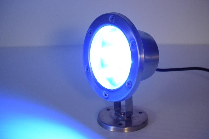 6 watt blue led stainless dock light 480 total lumens. Black Bedroom Furniture Sets. Home Design Ideas
