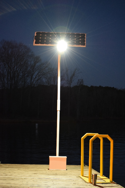 Hercules 50 Watt LED Solar Dock Light Kit 6000 Total