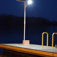 dock light - Hercules 50 watt LED solar dock light kit - 6000 Total Lumens