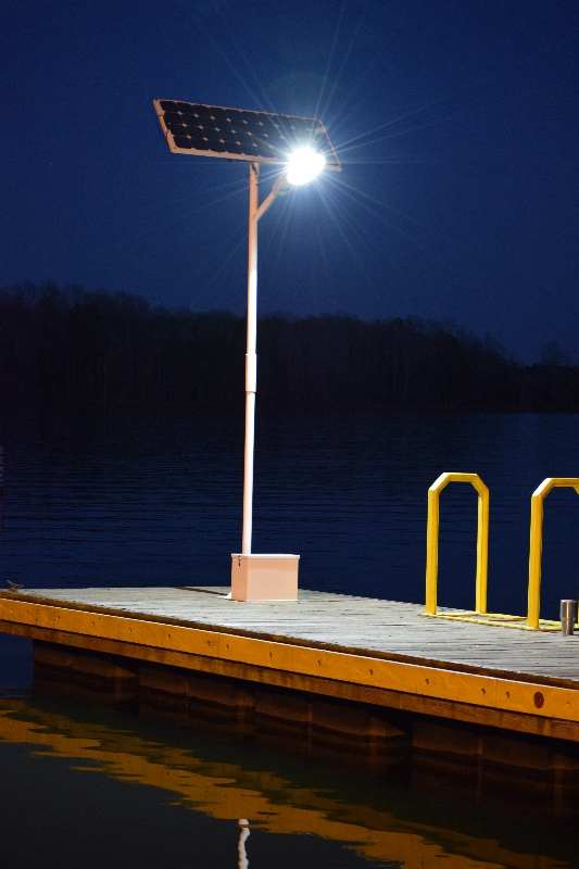 hercules 50 watt led solar dock light kit 6000 total lumens boat