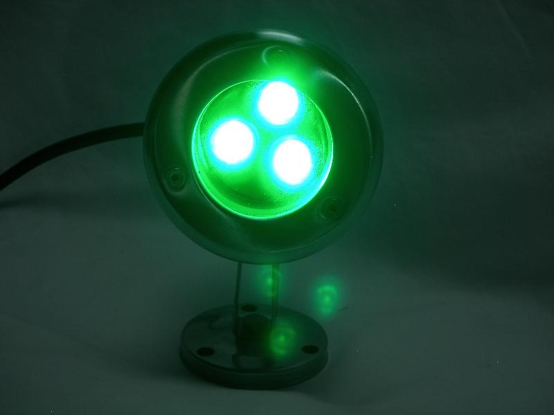 3 Watt GREEN LED Stainless Dock Light 240 Total Lumens 110 Volt 3 WG 11
