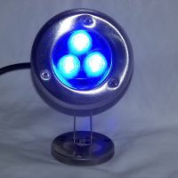dock lighting - 3 Watt BLUE LED stainless dock light - 240 Total Lumens - 110 volt