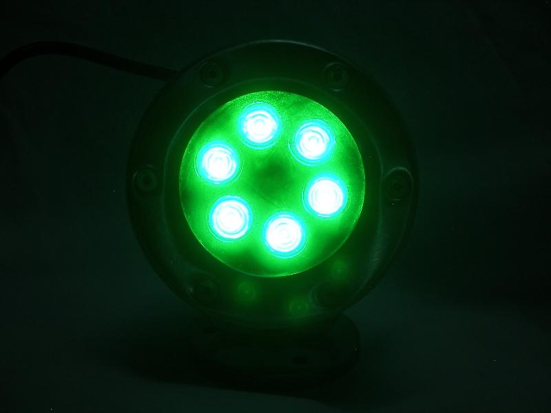 6 Watt GREEN LED Stainless Dock Light 480 Total Lumens 110 Volt 6 WG 11