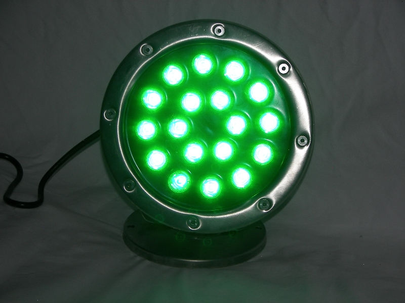 18 Watt GREEN LED Stainless Dock Light 1 440 Total Lumens 12 Volt 18 WG