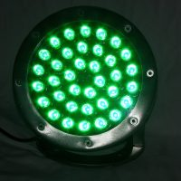 dock lighting - Uploaded To36 Watt GREEN LED stainless dock light - 2,880 Total Lumens - 110 volt