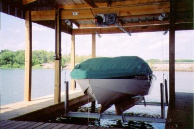 boathouse lift intallation