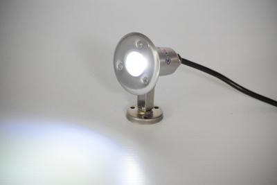 dock light - 1 Watt WHITE LED stainless dock light - 110 volt