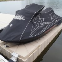 Jet Ski on Floating Dock with Cover