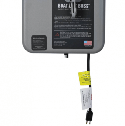 Boat Lift Boss 120V Wireless Remote Motor with wiring closeup