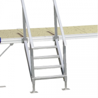 4-step dock ladder with handrail