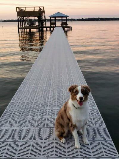 Sure step decking dock
