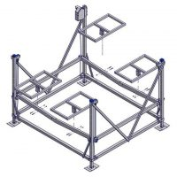 Pontoon straight rack