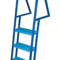 Blue stationary dock ladder